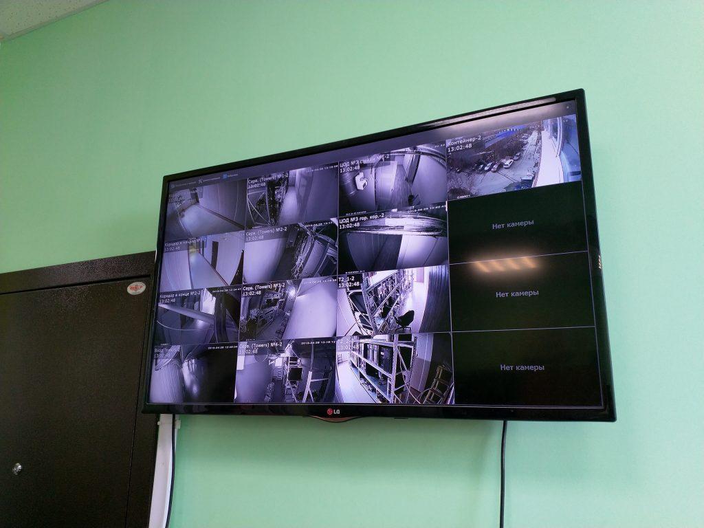 Панель видеонаблюдения