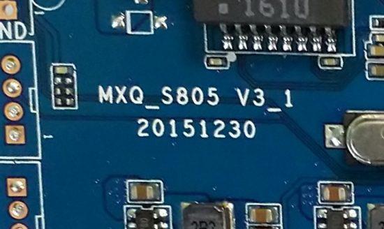 TV BOX MXQ S85 надпись на печатной плате